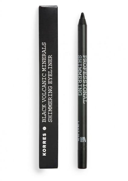 Korres Black Volcanic Minerals Shimmering Eyeliner black 1,2 g Dekorative