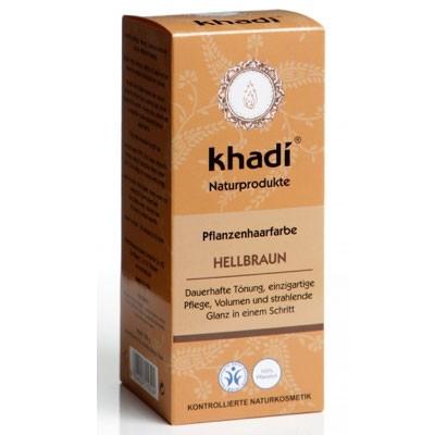 Khadi Pflanzenhaarfarbe Hellbraun 100 G