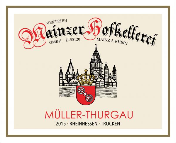 Mainzer Hofkellerei GmbH 2015 Müller Thurgau 0,75L Ökologischer Wein