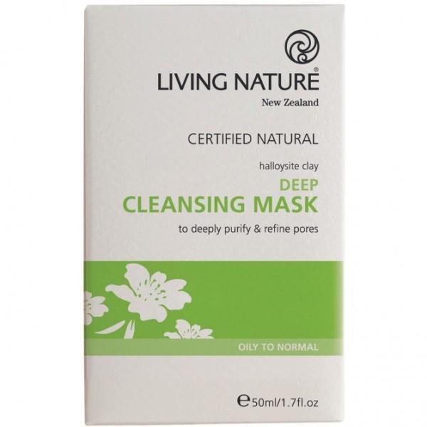 Living Nature Tief wirkende Reinigungsmaske 50ml Deep Cleansing Mask
