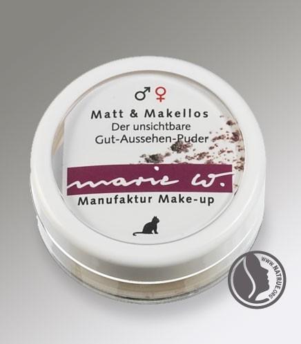 marie W. Make up Matt & Makellos Puder für Männer und Frauen