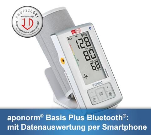 Aponorm Basis Plus Bluetooth Oberarm Blutdruckmessgerät