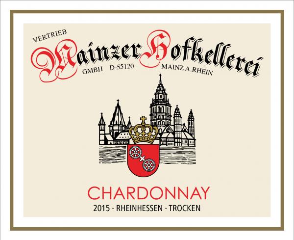 Mainzer Hofkellerei GmbH Chardonnay Trocken 0,75 L 2015 Ökologischer Wein