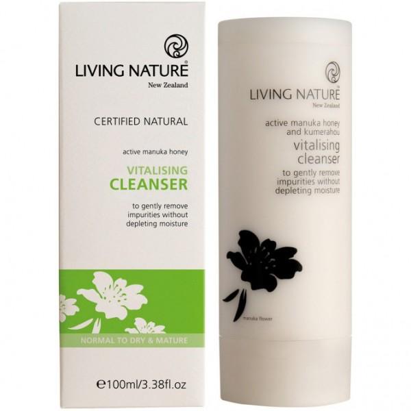 Living Nature Vitalisierende Reinigungsmilch 100ml Vitalising Cleanser