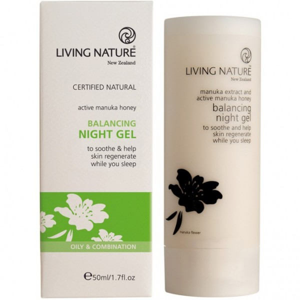 Living Nature Regulierendes Nacht Pflegegel 50ml Balancing NightGel