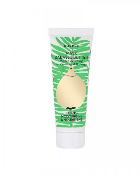 Korres Babassu Butter Maske für intensive Feuchtigkeit & Pflege 18 ml