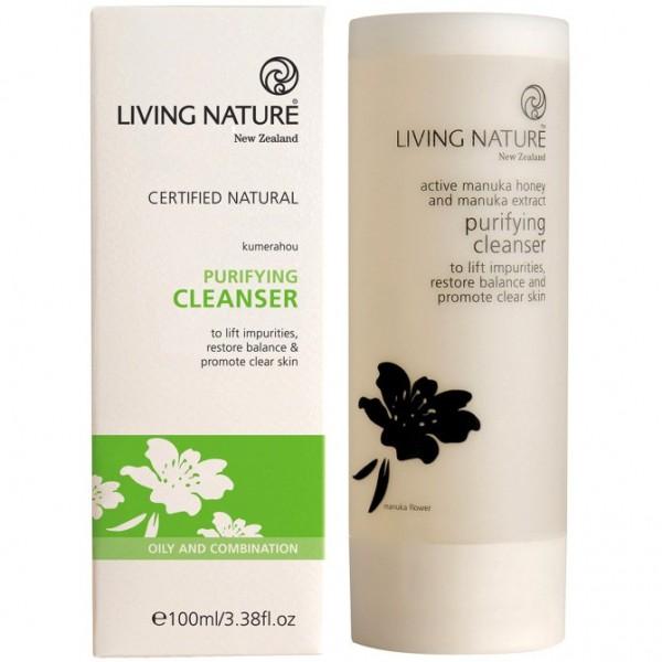 Living Nature Klärendes Reinigungsgel 100ml Purifying Cleanser